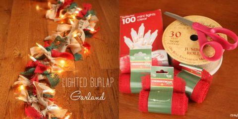 adornar Guirnalda navidena iluminada