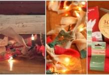 manualidad adornar Guirnalda navidena iluminada 2