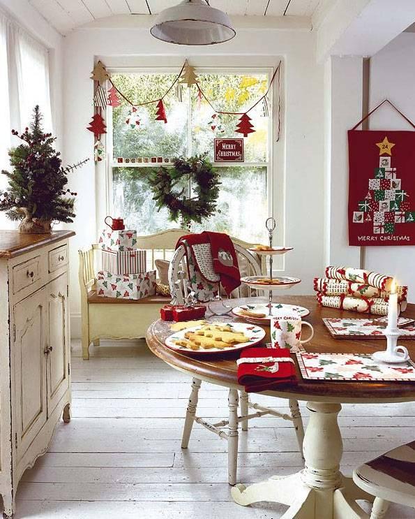Decoración navideña para comedor