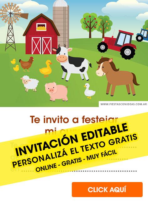 free farm animals birthday invitations