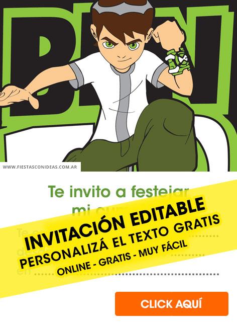 8 free ben 10 birthday invitations for