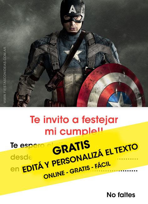3 free captain america birthday