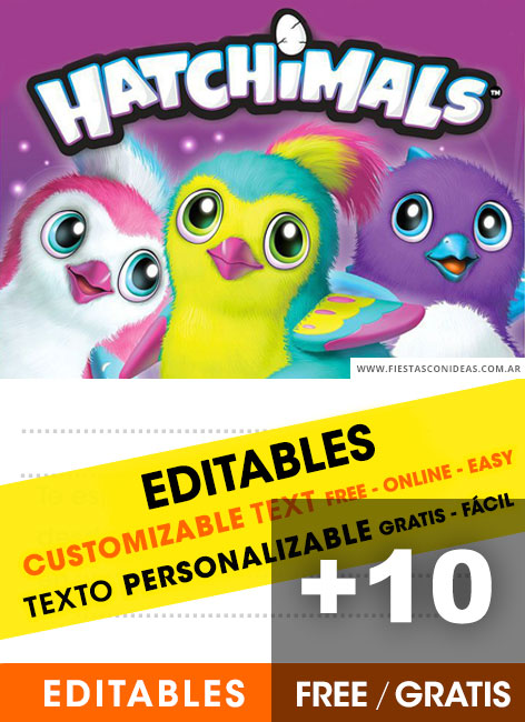 free hatchimals birthday invitations
