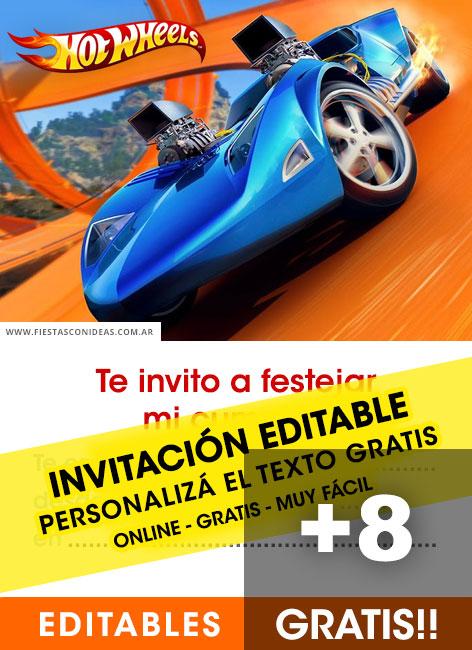 hot wheels free birthday invitation