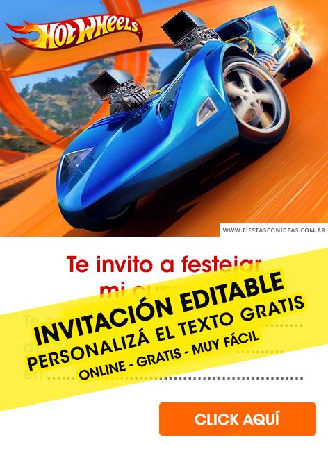 8 free hotwheels birthday invitations