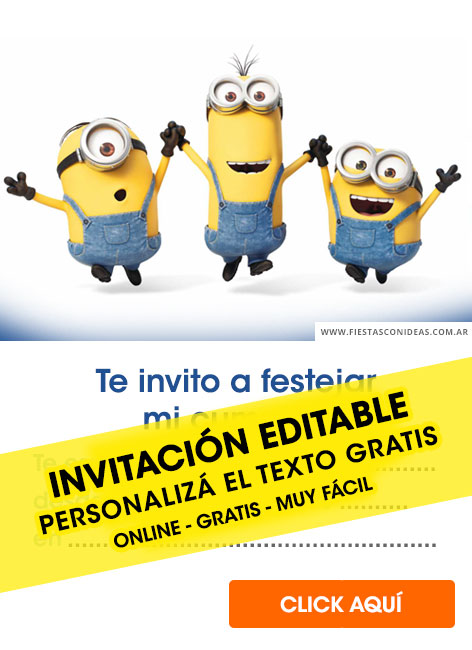 8 free minions birthday invitations