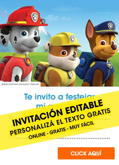 free paw patrol birthday invitations