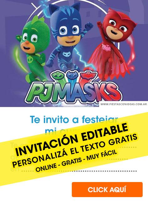 16 Free Pj Mask Birthday Invitations For Edit Customize Print Or Send Via Whatsapp Fiestas Con Ideas
