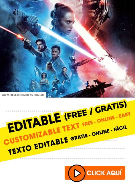 15 Free Star Wars Birthday Invitations For Edit Customize Print Or Send Via Whatsapp Fiestas Con Ideas
