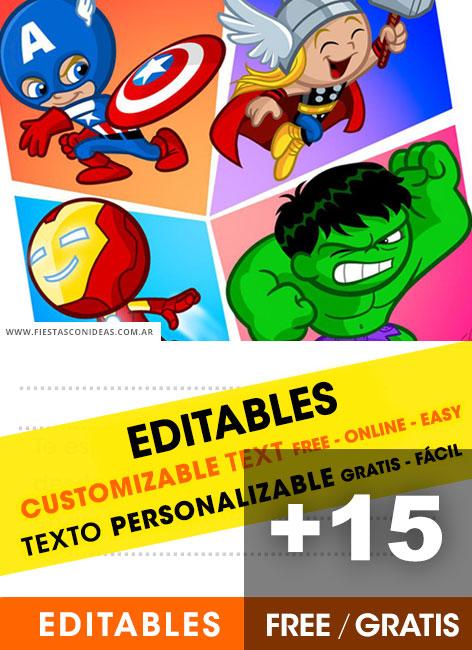 free superheroes birthday invitations