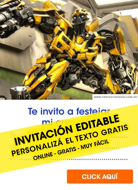 bumblebee birthday invitations for edit