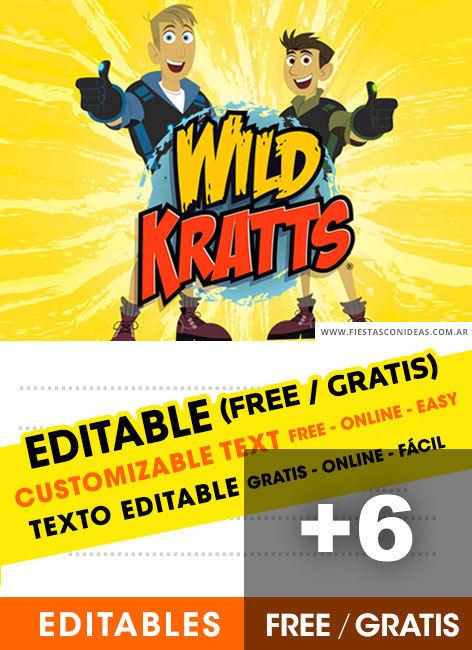 free wild kratts birthday invitations