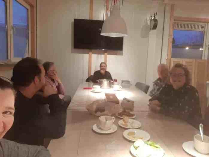 Even nababbelen met Peter, Coriza, Sylvia en m'n pa en ma — bij Santé Holland.