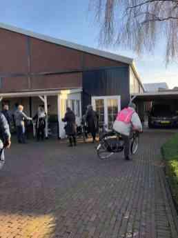Dweilfietser Wil Vis arriveert ook bij Sylvia Simons-vd Berg bij Santé Holland