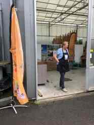 Sandra Kaag-Rietveld van De Keuken Van Sandra stond ons bij Lokaal Westland al op te wachten. — bij De Bakker Westland.