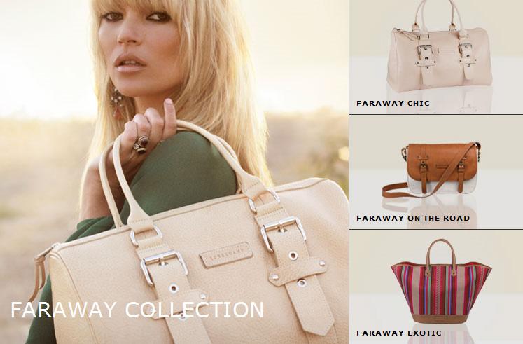 Faraway   Kate Moss pour Longchamp   fareway