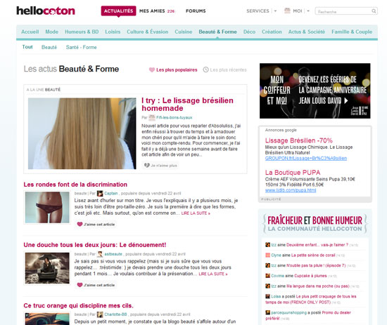 La Une beauté sur Hellocoton, ça se fête ! [Concours inside #1]   2011 04 23 14h11 25
