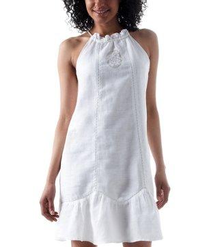 Moi aussi, je veux une robe blanche !   robe volantee toucher lin blanc 205526 photo