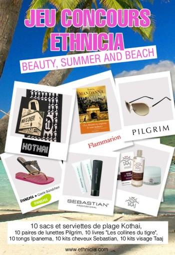 Ethnicia vous offre votre beauty bag pour la plage [Concours outside]   jeu concours ethnicia