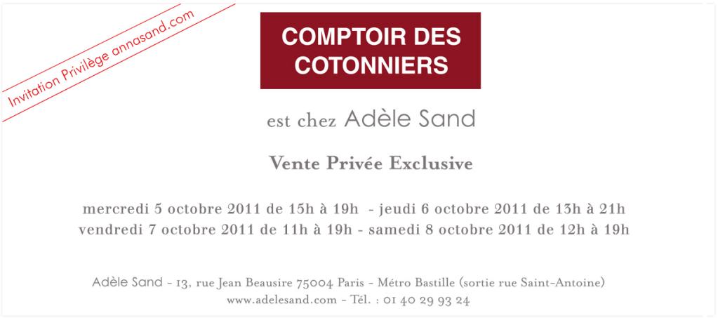 Vente privée Comptoir des cotonniers chez Adèle Sand   2011 10 05 10h09 49 1024x453