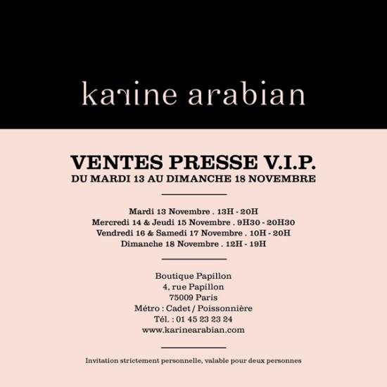 Ventes presse Karine Arabian   vente presse karine arabian 550x550