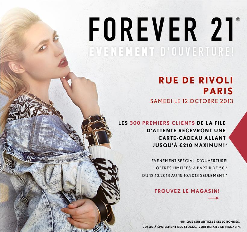 Forever 21 débarque à Paris   forever 21