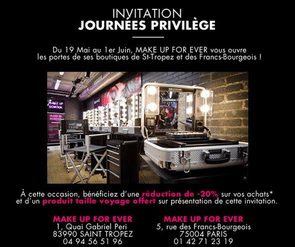 journée privilege make up for ever