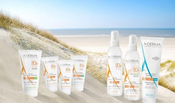 Moi, le soleil, ma peau sensible et A Derma   a derma protect