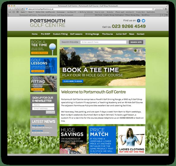 Portsmouth Golf Centre web design