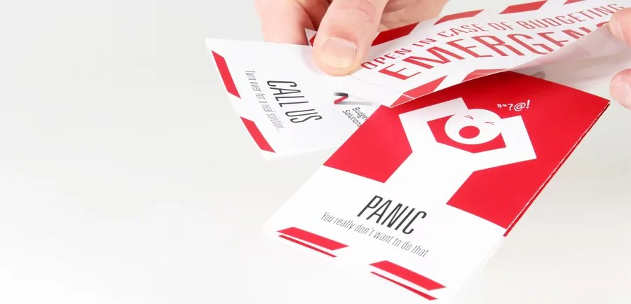 innovative direct mail design for budgeting solutions