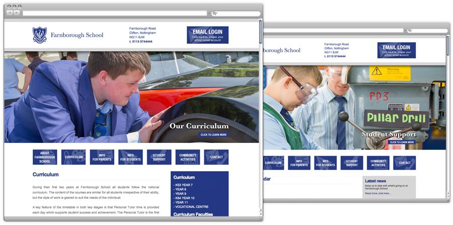 farnborough school web design nottingham