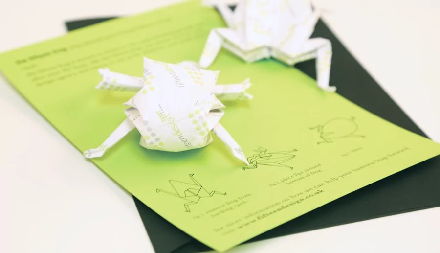 direct mail marketing origami frog 2