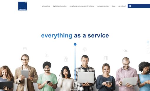 bluesource homepage