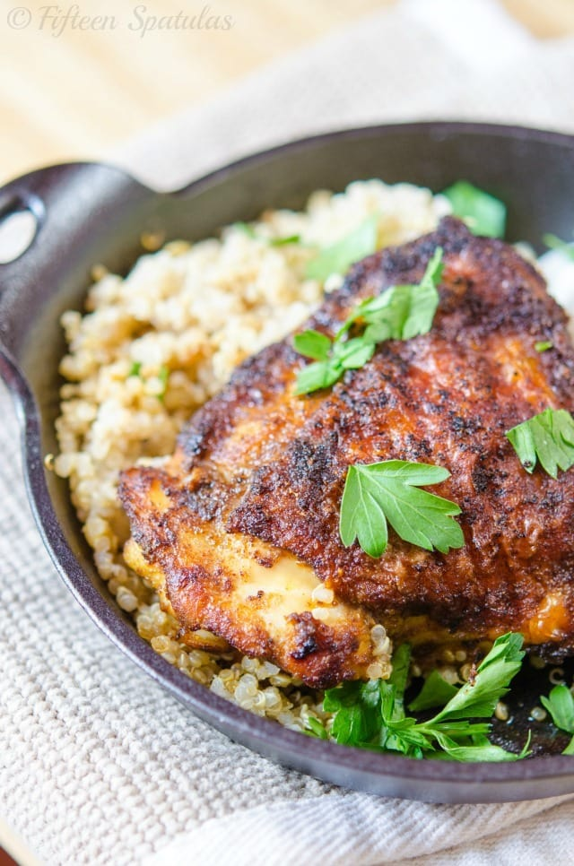 Spice Rubbed Chicken Thighs