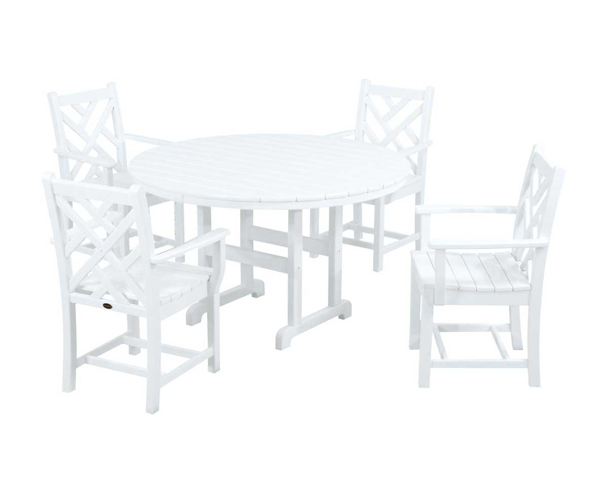 Polywood 5 Pc Chippendale Dining Set