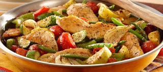 Κοτόπουλο με λαχανικά στο φούρνο