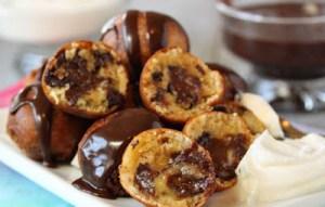 Σοκολατάκια με ψητή μπανάνα