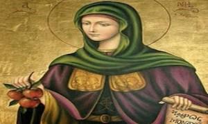 Το μήλο της Αγίας Ειρήνης Χρυσοβαλάντου και η ατεκνία
