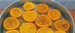 Καραμελωμένες φέτες πορτοκαλιού