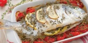 Τσιπούρα στο φούρνο με λεμόνι