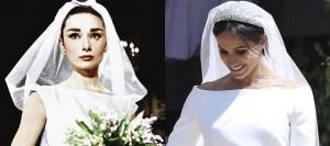 Read more about the article Από φόρεμα της Audrey Hepburn εμπνεύστηκε η Meghan Markle το νυφικό της!