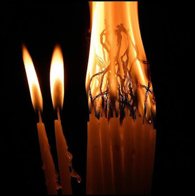 Read more about the article Τό κερί εἶναι ἡ πίστη μας, τό φυτίλι ἡ ἐλπίδα μας, καί ἡ φλόγα ἡ ἀγάπη πού ἑνώνει τήν πίστη