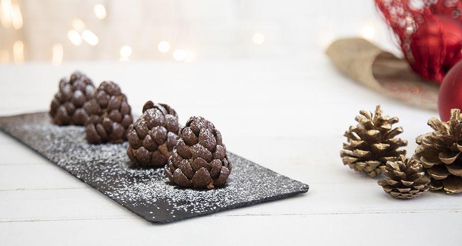 Κουκουνάρια από σοκολάτα