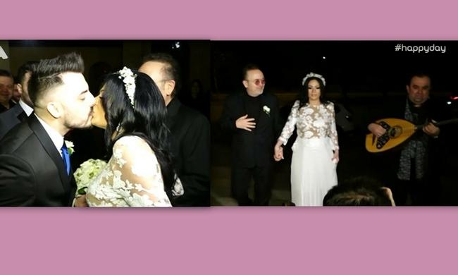 Σταμάτης Γονίδης: Τα πρώτα πλάνα από το γάμο της εγκυμονούσας κόρης του τραγουδιστή!