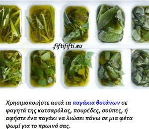 Πώς να καταψύξετε φρέσκα βότανα με ελαιόλαδο