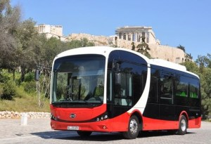 Ήρθε στην Αθήνα το ηλεκτρικό λεωφορείο BYD