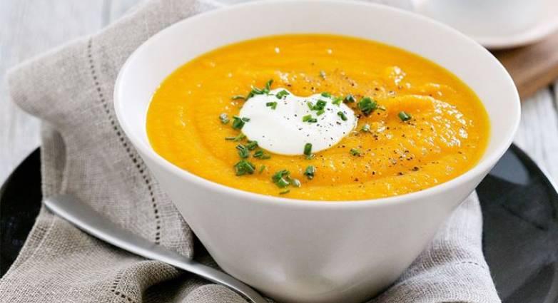 Σούπα καρότου με τζίντζερ