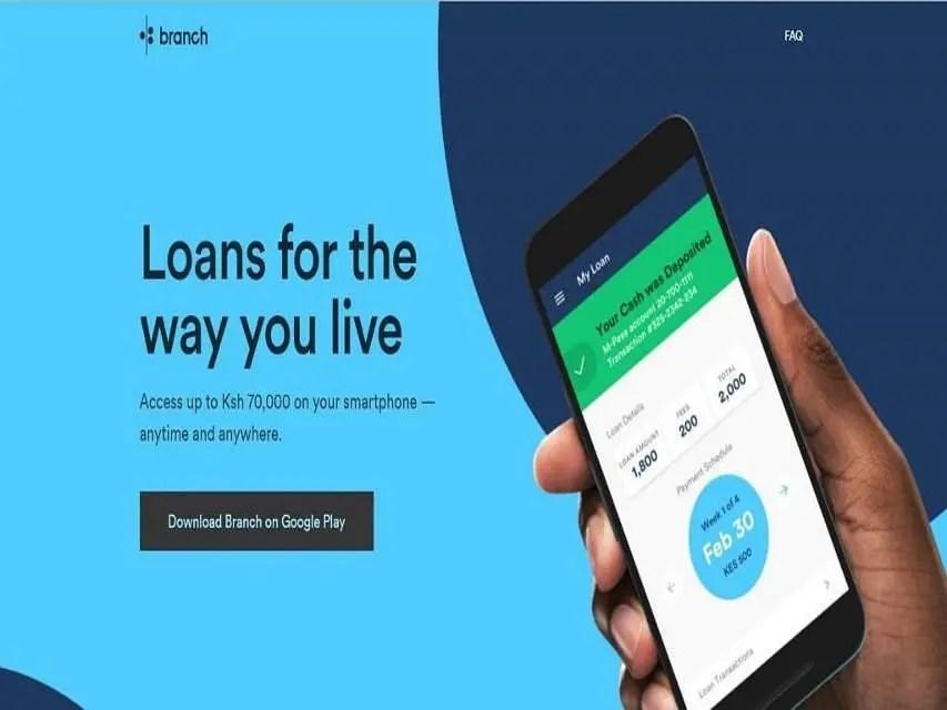 Online Money Lending branch loans app