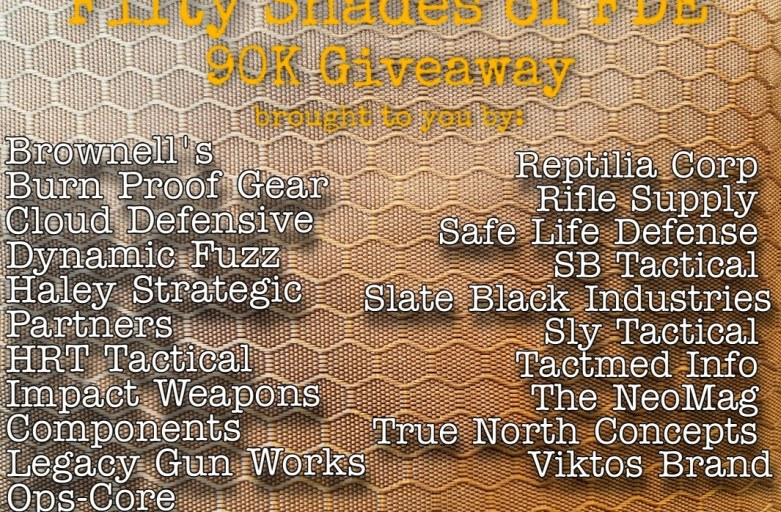 Fifty Shades of FDE 90K Giveaway