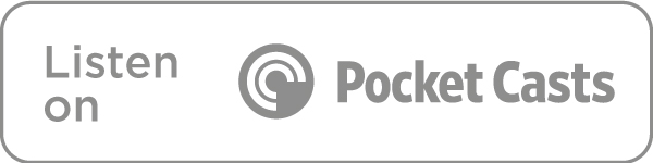 Listen on Pocket Casts icon in grey